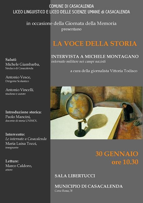 """""""La Voce della storia"""" a Casacalenda intervista a Michele Montagano"""