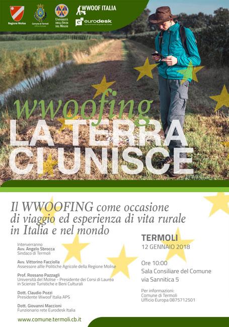 Termoli, venerdì 12 gennaio convegno sul tema del wwoofing