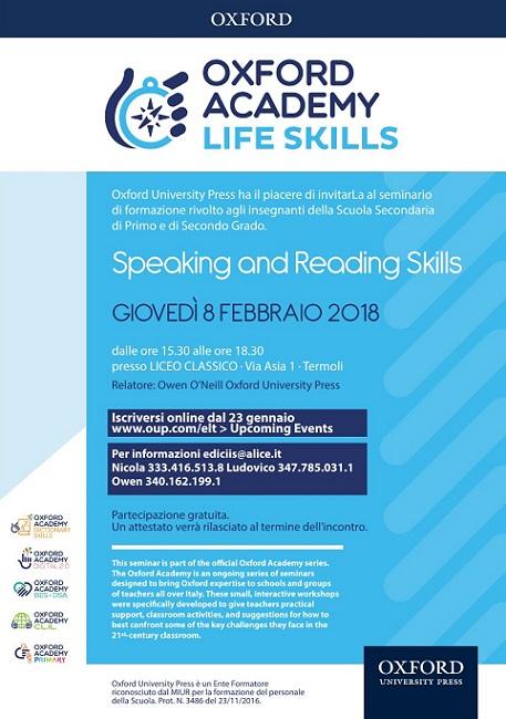 Termoli, formazione per docenti in inglese all'I.I.S.S. Alfano