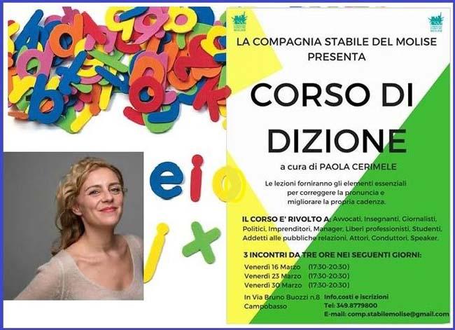 Corso di dizione a Campobasso dal 16 marzo: info lezioni
