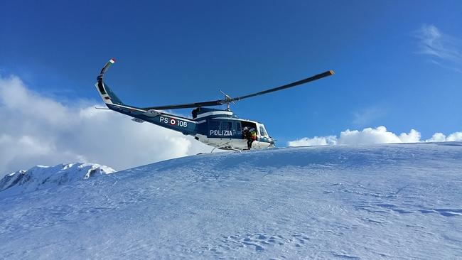 Matese, esercitazione con l'elicottero per il Soccorso Alpino