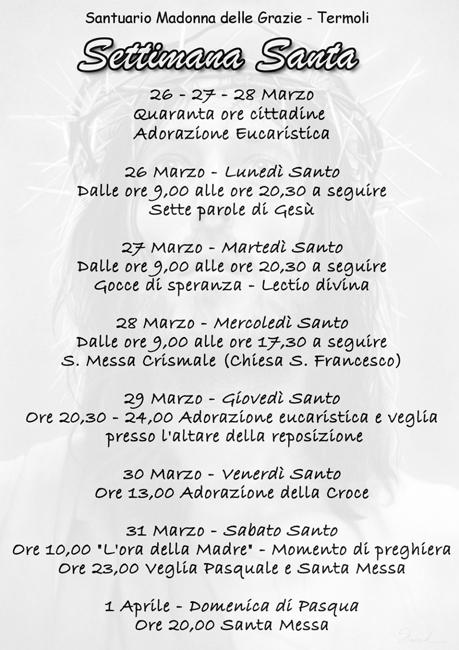 Termoli, settimana Santa: gli appuntamenti verso la Pasqua