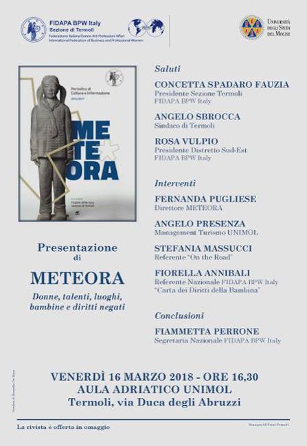 Termoli, Meteora: il 16 marzo la presentazione della rivista