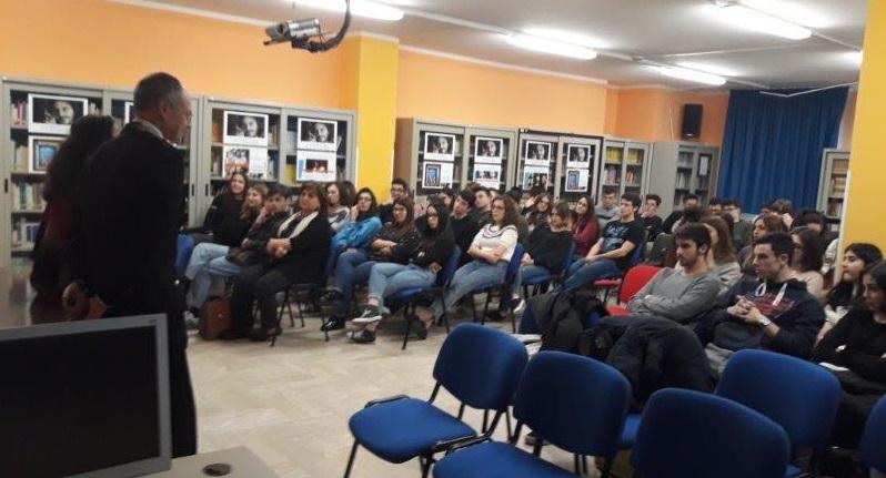 Isernia, formazione alla legalità: incontro con gli studenti del Fascinelli