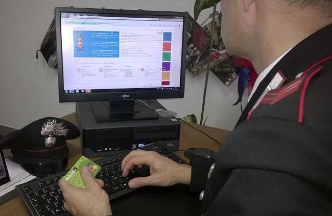 carabinieri truffe online