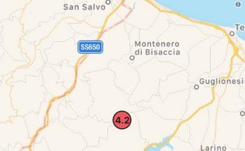Terremoto in Molise, 4.2 con epicentro Acquaviva Collecroce