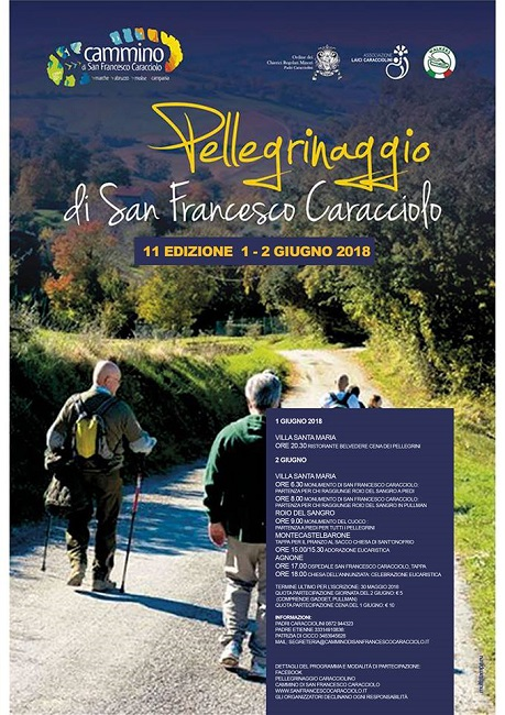 11° Pellegrinaggio San Francesco Caracciolo programma