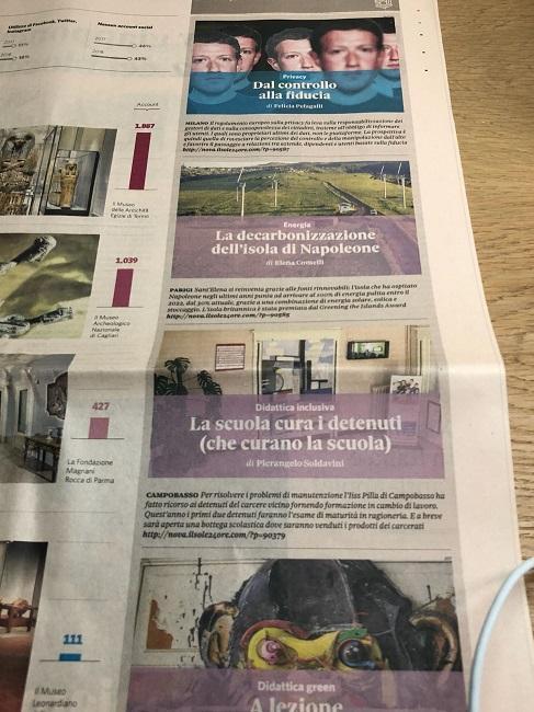 progetto Istituto Pilla - Carcere Campobasso pagine Il Sole 24 ore