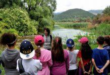 alunni Petacciato in visita guidata sorgenti Pescara