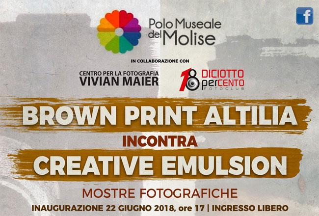Brown print – Altilia incontra Creative Emulsion mostra fotografica Venafro