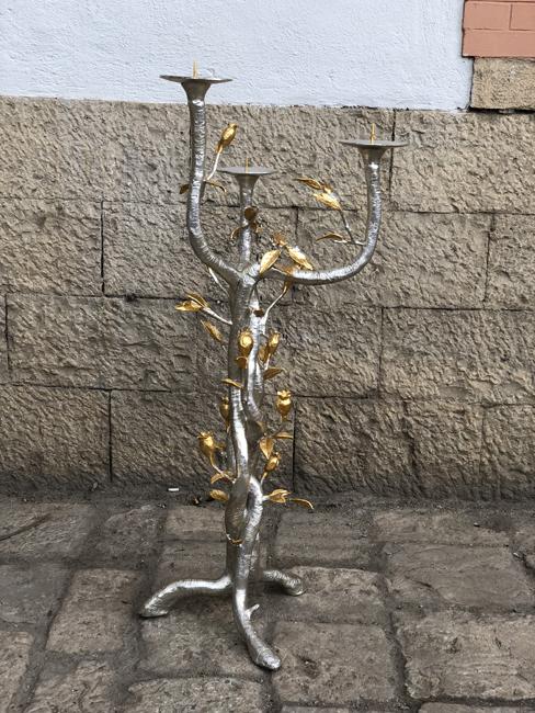 Agnone candelabro liturgico 150 anni Basilica Maria Ausiliatrice