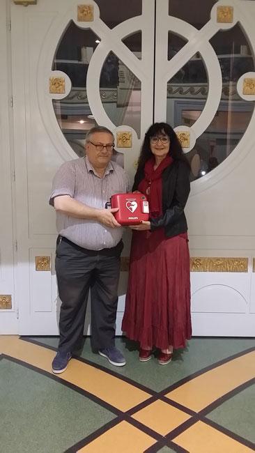 Campobasso, donato un defibrillatore per il Teatro Savoia