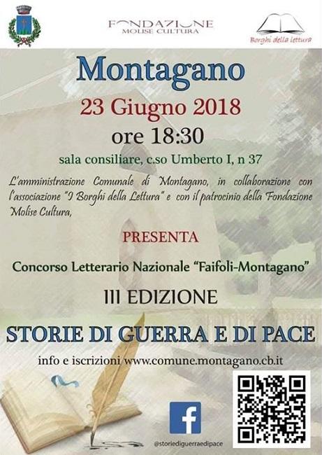 Storie di guerra e di pace concorso letterario Montagano
