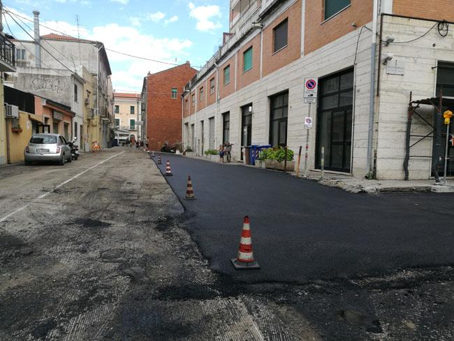 Termoli nuovi asfalti via Cannarsa