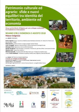 Bojano sviluppo sostenibile 5 agosto convegno Palazzo Colagrosso