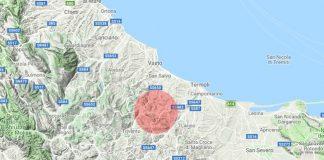 mappa terremoto 14 agosto 2018