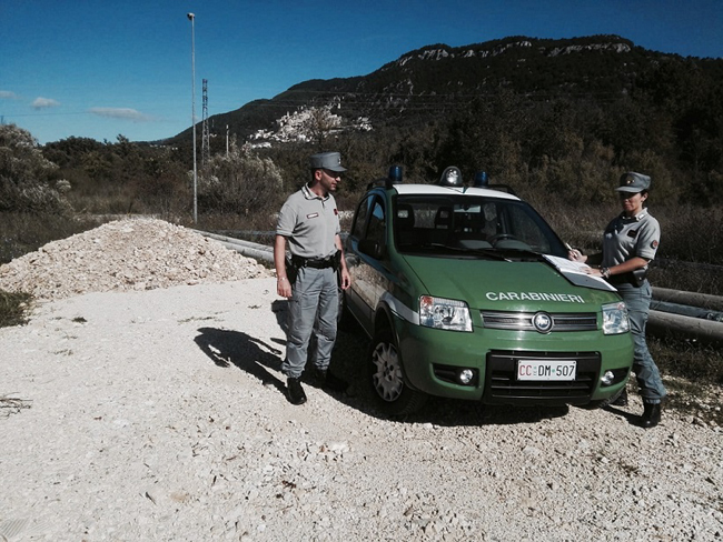 carabinier forestale rifiuti
