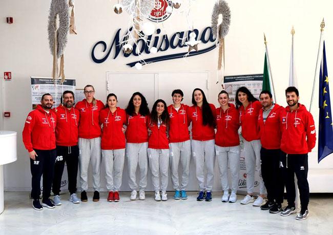 Il gruppo della Magnolia Campobasso in visita allo stabilimento La Molisana