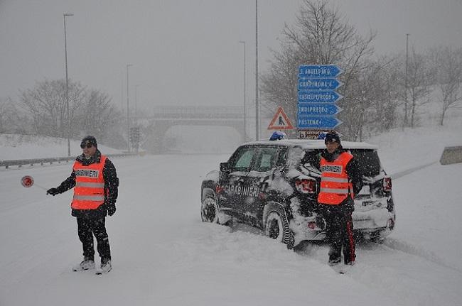 carabinieri soccorso neve isernia