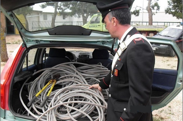 recupero cavi carabinieri