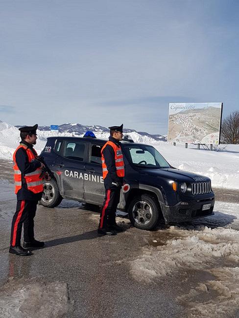 controlli Carabinieri Capracotta