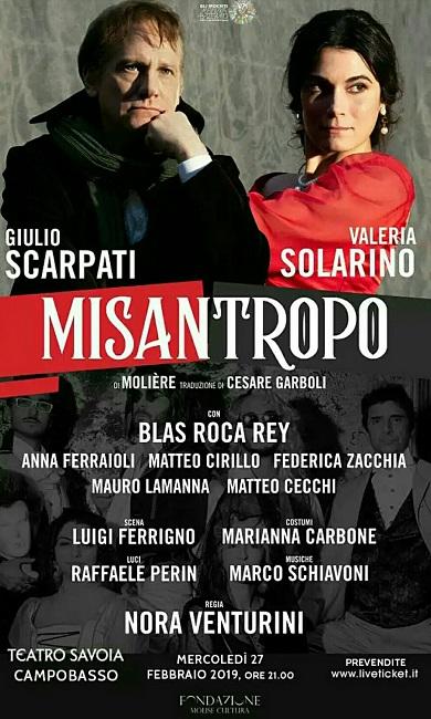 Misantropo di Molière 27 febbraio 2019 Campobasso