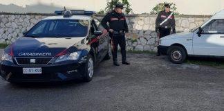 ritrovamento furgone carabinieri