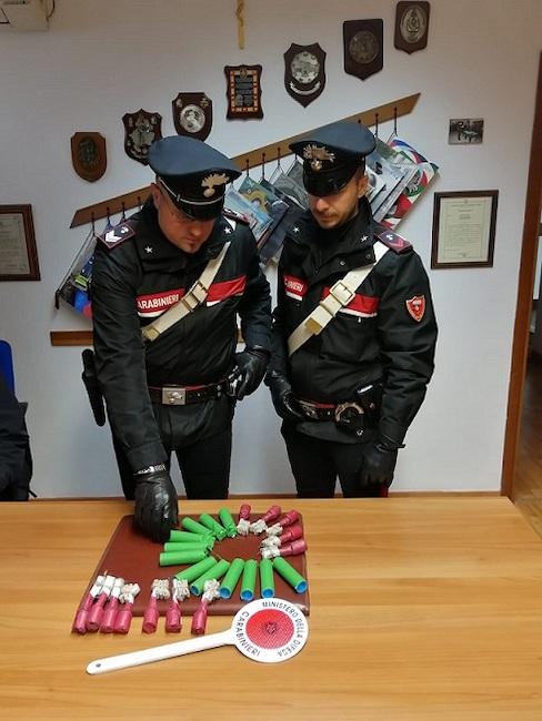 sequestro petardi Carabinieri