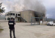 Agnone incendio attività commerciale