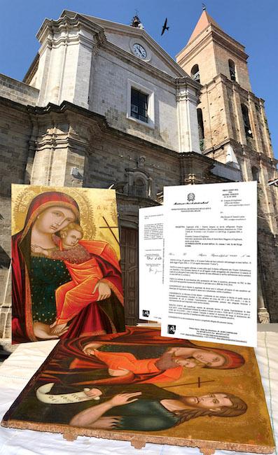 Madonna con Bambino e San Giovanni Battista 500 di Guglionesi