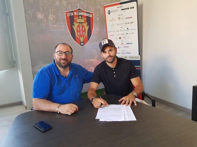 Damiano Menna e il presidente Nicola Circelli