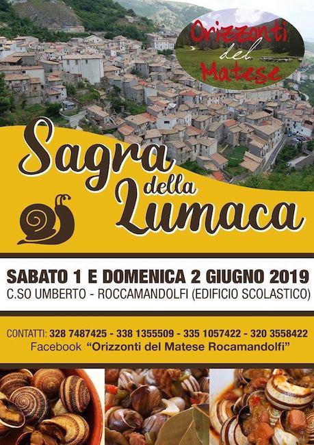 sagra della lumaca Roccamandolfi-1-2-giugno-2019