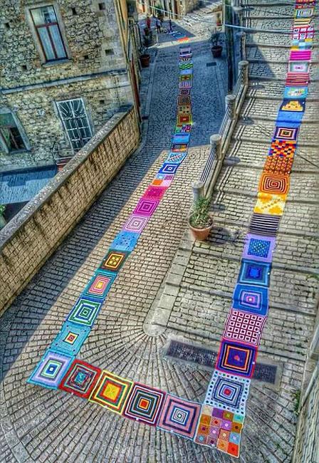 Il tappeto ad uncinetto Trivento