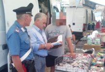 foto controllo carabinieri al mercato