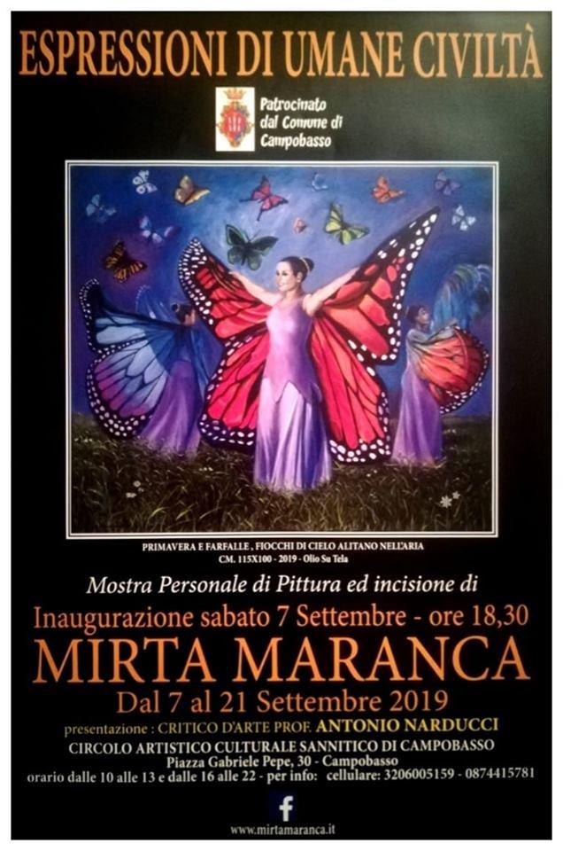 """Mirta Maranca in mostra a Campobasso con """"Espressioni di umane civiltà"""""""