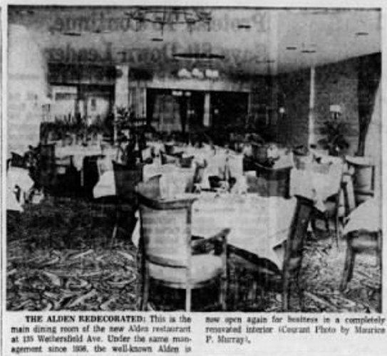 """ristorante """"Club Alden"""" di Hartford"""