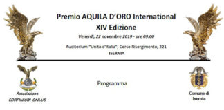 14° Premio Aquila D'Oro International a Isernia