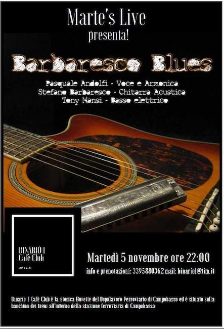 barbaresco blues 5 novembre 2019