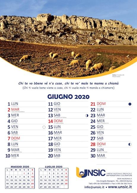 calendario unsic 2020 frosolone giugno