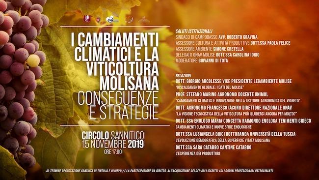 i cambiamenti climatici viticultura 15 novembre 2019