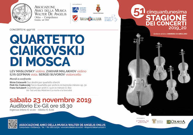 Quartetto Ciaikovskij di Mosca all'Auditorio Ex-Gil – Campobasso: ecco quando - Molise News 24