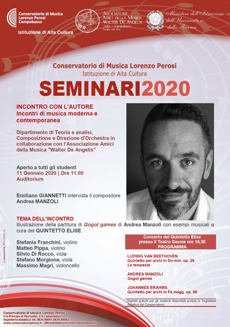 incontro con il compositore Andrea Manzoli a Campobasso