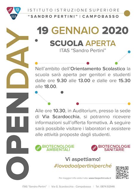 openday pertini biotecnologico 2020