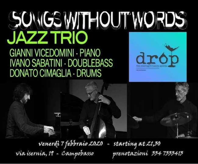 jazzo trio drop campobasso 7 febbraio 2020