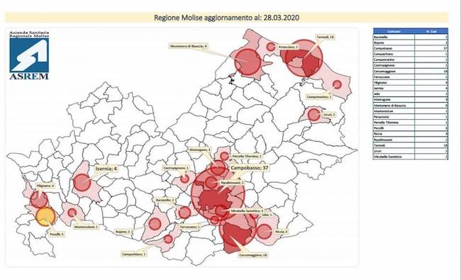 mappa coronavirus 28 marzo 2020