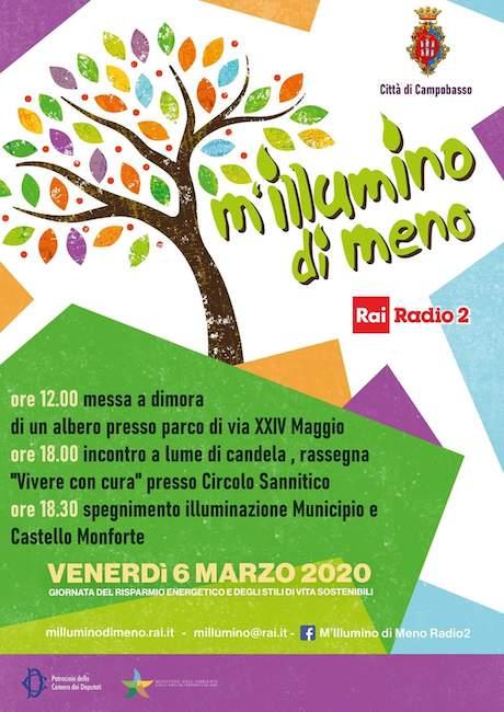 """Campobasso, """"M'illumino di meno"""": il programma del 6 marzo"""