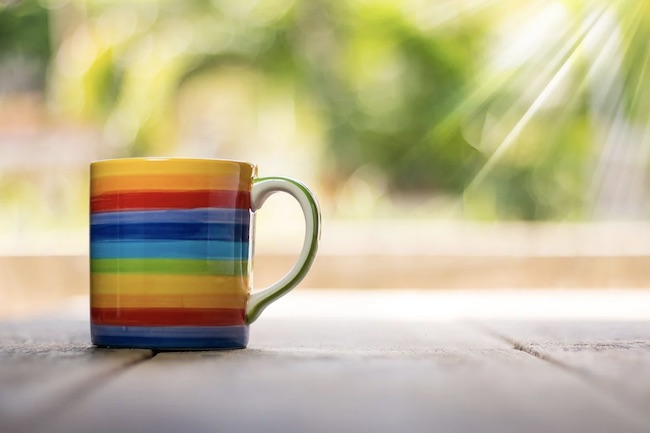 tazza arcobaleno