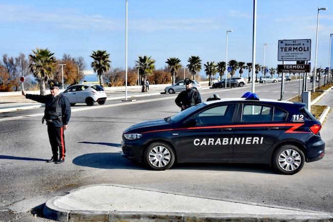 termoli posto di blocco Carabinieri