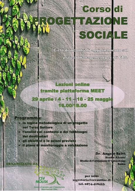 corso progettazione sociale