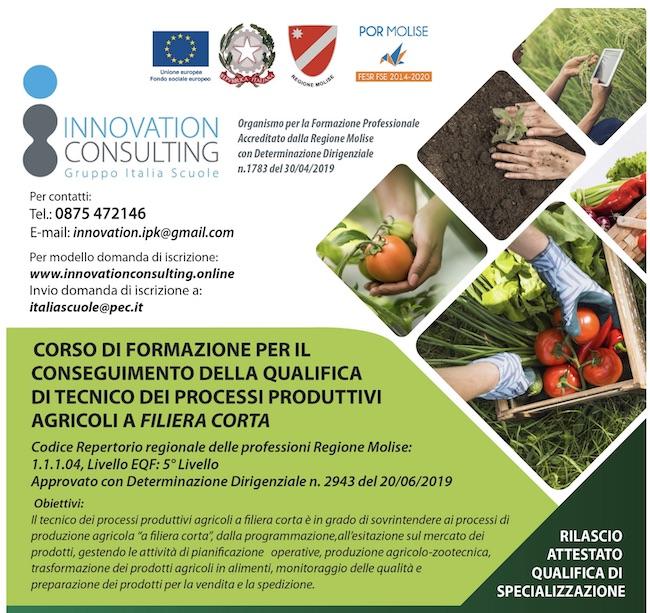 corso formazione processi produttivi agricoli